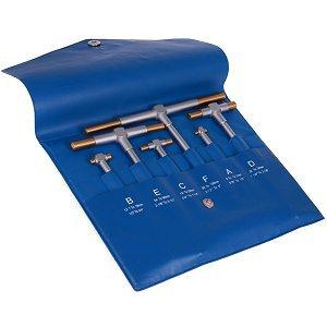 Anytime Tools 6 pc Titanium Coated TELESCOPING T BORE HOLE Precision GAGE GAUGE SET