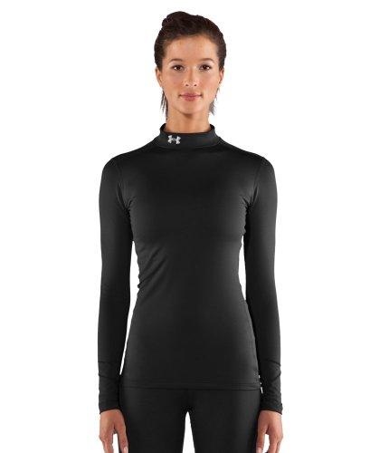 Under Armour Women's ColdGear Compression Mock, Black, X-Large
