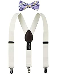 Boys' Suspenders and Purple Bow Tie Set