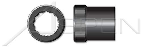 (50 pcs) 3/4″-16, Internal Wrenching Allen Nuts, Double Hex 12 Point Socket Drive, Alloy Steel, Holo-Krome