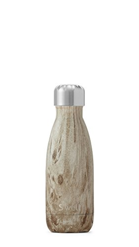 S'well Vacuum Insulated Stainless Steel Water Bottle, 9 oz, Blonde Wood