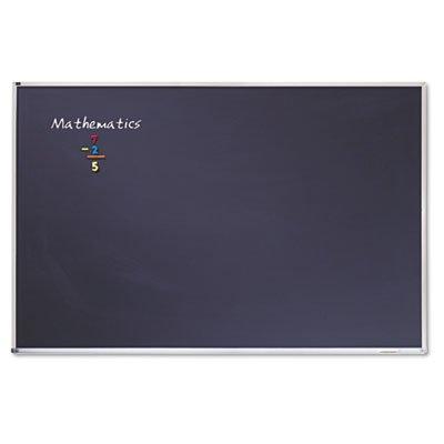 Quartet Porcelain Chalkboard, 4 x 6 Feet, Black with Aluminum Frame - Chalkboard Black Porcelain