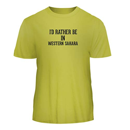 I'd Rather Be in Western Sahara - Nice Men's Short Sleeve T-Shirt, Yellow, XXX-Large