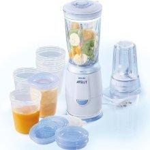 Philips Avent - Juego de preparación de alimentos: mini batidora de vaso con accesorios