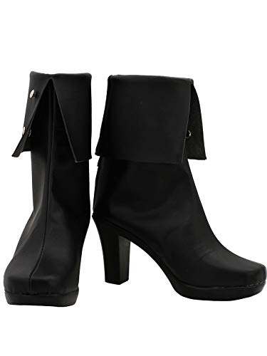 GOTEDDY Blake Halloween Cosplay Booties Black Short Boots Women Costume Shoes -