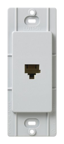Lutron SC-PJ-PD Satin Colors Phone Jack, Palladium (Palladium Satin)