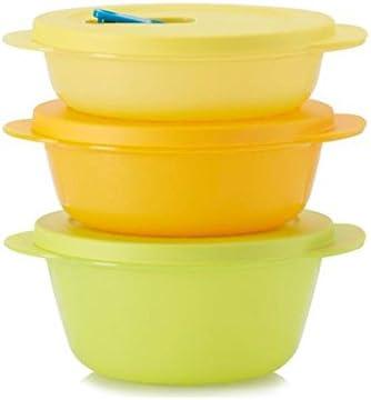TUPPERWARE CrystalWave Rotondo Bowl 400 ml giallo