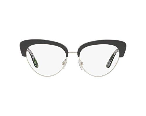 Dolce   Gabbana - Monture de lunettes - Femme Gris dunkel grau - bedruckt  grün 53 694e7cc2c8c4