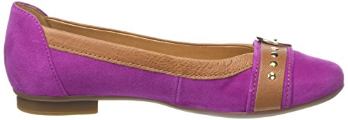 Gabor Indiana - Bailarinas Mujer Rosa - Pink (Pink Suede/Brown Leather Trim)