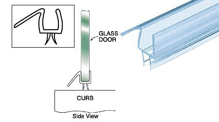 Clear Co Extruded Bottom Wipe Glass