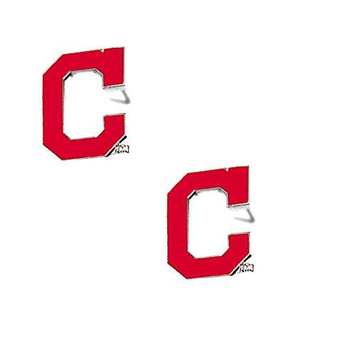 aminco Cleveland Indians Post Stud Logo Earring Set Mlb Charm (Earrings Indians)
