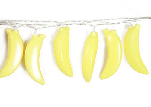 SDOUBLEM Fruit Banana String Lights 20 LED Battery Operated Lamp Party Holiday Decorations Light for Indoor Home Patio Garden from SDOUBLEM