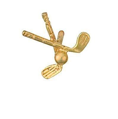 9ct Amarillo de palos de Golf fabricado en joyas broche de ...