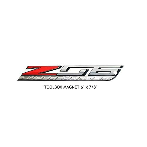 (C7 Corvette ZO6 Super Charged Metal Magnet Emblem Art Size: 6