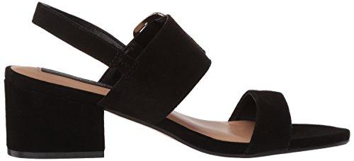 Steve Women's Black STEVEN Sandal Heeled by Madden Suede Fond ftfn5wBq