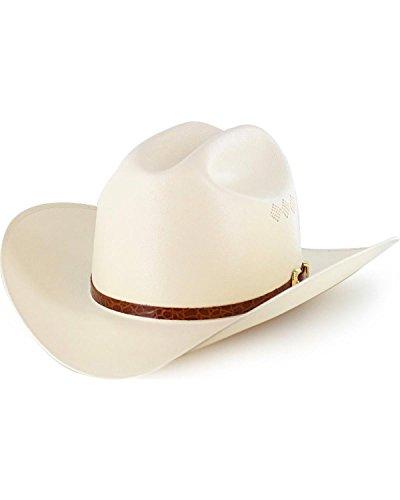 Larry Mahan Men's 15X El Primero Straw Cowboy Hat Natural 6 ()