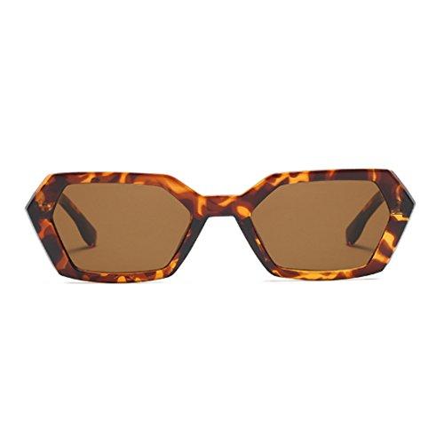 Patrón UV400 sol Square Goggle Vintage Frame sol Polígono de Leopardo Green de Fashion de Mujeres Yefree Summer Gafas Leopard Gafas qcBwHEaT