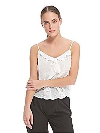 Stradivarius Cami & Strappy Tops For Women, White - S