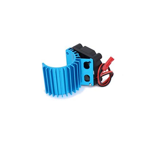 RCAWD Heatsink 380 Motor 308006 Heat Sink Head Cooling Vent Side 6v Fan JST Alloy Aluminum for 1/16 RC Hobby Model EP Car/Boat HSP HPI Wltoys Himoto Redcat 1Pcs(Blue) (Aluminum Cooling Heatsink Head)