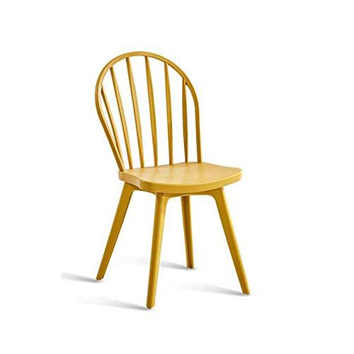 Yellow Modern Minimalist European Restaurant Home Dining Chair Adult Back Chair Nordic Creative Fashion Backstool 0522A (color   Black)