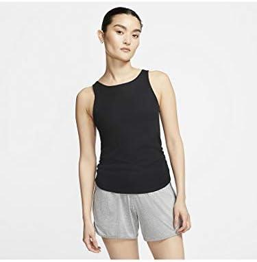 ウィメンズ ヨガ RUCHE タンク トレーニングシャツ (CJ4218) (010)ブラック S