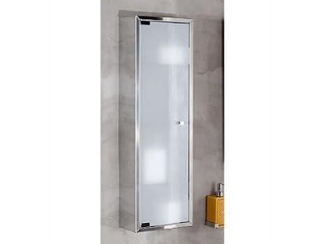 Lineabeta da bagno con vetro pensile 60 x 25 acciaio inox pika