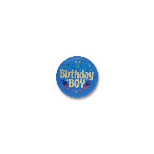 Beistle Birthday Boy Satin Button]()