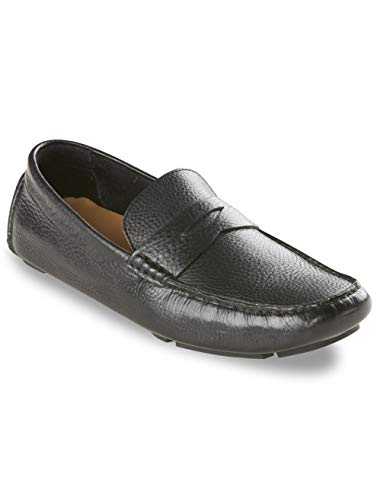 Cole Haan Men's Howland Penny, Black Tumbled, 14 W US