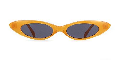 Gris Lentille pour En ADEWU Lunettes 1 Lunettes Hommes Cadre Ovale Goutte UV400 Soleil Rétro Forme Clout de d'Eau Orange Femmes Lentille qUzHqnfO