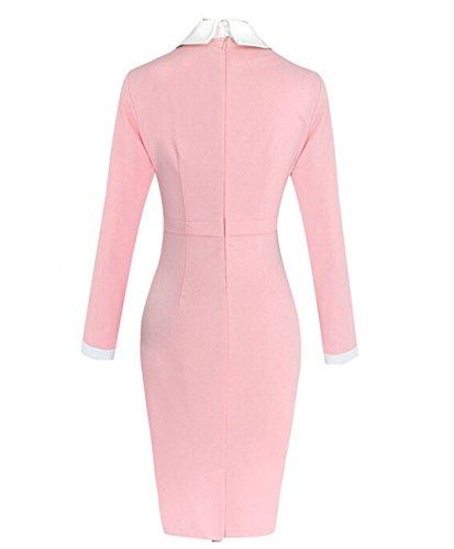 Pinkyee - Vestido - trapecio - para mujer Rosa