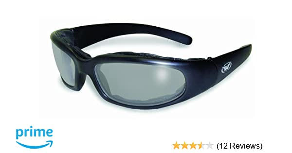 6546a9245b54 Amazon.com  Global Vision Chicago Padded Riding Glasses (Black  Frame Clear-Smoke Lens)  Automotive