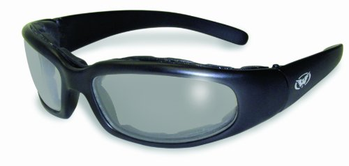 Global Vision Chicago Padded Riding Glasses (Black Frame/Clear-Smoke - Eyewear Woodbury