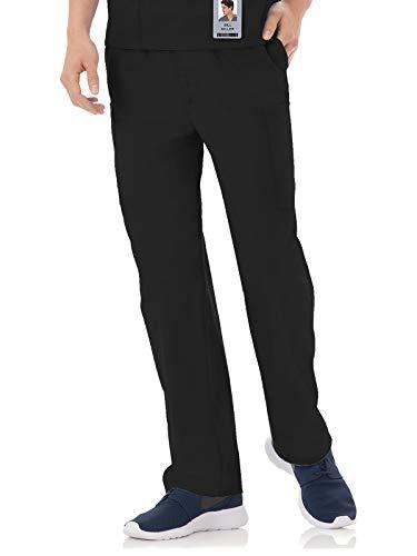 (White Swan Fundamentals 14843 Unisex Five Pocket Scrub Pant Black L Short)