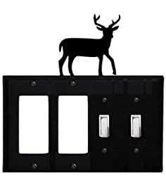 Eggss-3 Deer Double Gfi & Double Switch Electric Cover