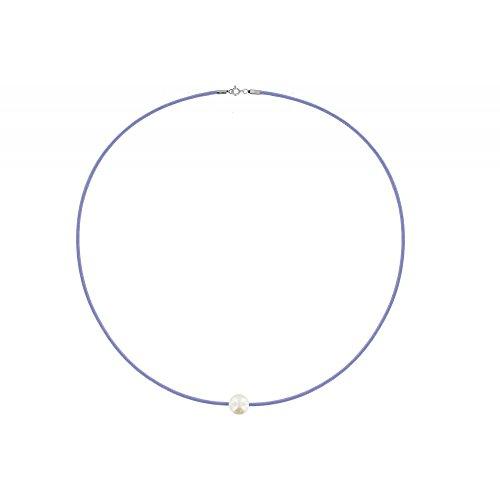 Les Poulettes Bijoux - Collier La Perle Blanche des Poulettes Lien Lilas