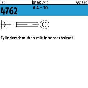 100 Edelstahl V4A Inbus Zylinderkopfschrauben ISO 4762 A4-70 M6x10