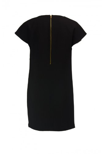 Damen Intropia Kleid Etui Schwarz Hoss Drapiertes Z5S7yqq
