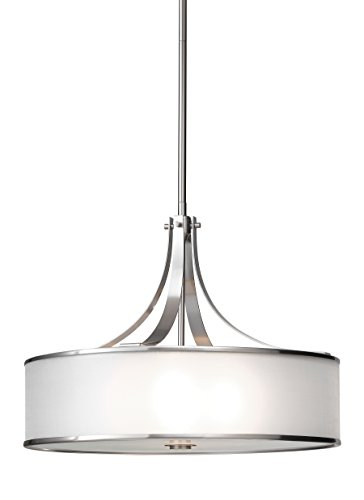 Sea Gull Lighting F2343/4BS Casual Luxury Large Four Light Pendant, Brushed Steel