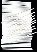 6'' X 5/32'' SUCKERSTICK Paper Sucker Lolly Lollipop Sticks 50 Count