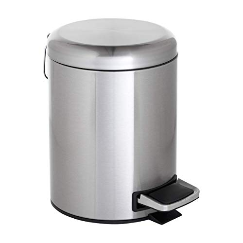 (ToiletTree Products Stainless Steel Trash Can with Dome Lid, 5)