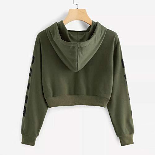Shirt Encapuchonn Chic Army Green Longues Capuche Tops Chemisier Imprim Chemisier Automne Blouse Sweat Chemise Kangrunmy ArrTez Vous Lettres Sweat Femme Manches A 6IqR8