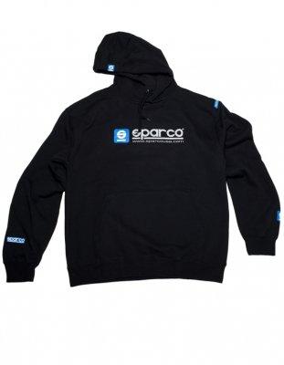 (Sparco SP03100NR3L WWW Large Black Hooded Sweatshirt)