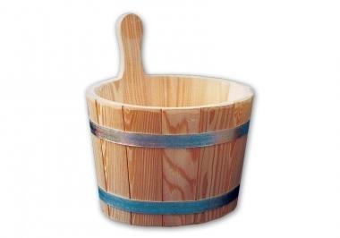 Blumenberg Larch Wood Sauna Bucket with Plastic Insert 5 L
