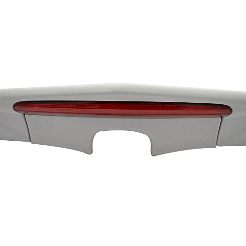 MD Style FRP Unpainted With Red LED Brake Light Trunk Boot Lip Rear Spoiler Wing Deck Lid By IKON MOTORSPORTS Trunk Spoiler Fits 2006-2011 Honda Civic 2007 2008 2009 2010