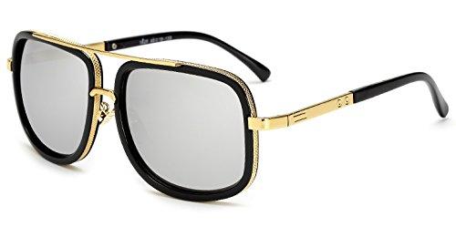 d6839f86aec ZAPPER Latest Iron Man Sunglasses+Avengers Infinity War Ironman Sunglasses  Inspired+Wayfarer Rectangular Frame+UV 400 Protection with Hard Case   Amazon.in  ...
