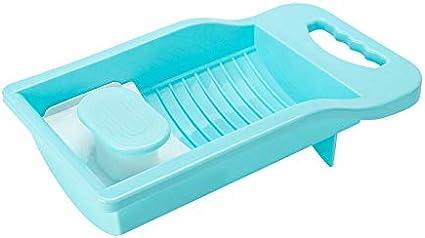 YMSM Personal Underwear Mini Washboard Artifact Household Dormitory Non-Slip,Mini Plastic Washboard for Kid Clothes Underwear Socks Blue