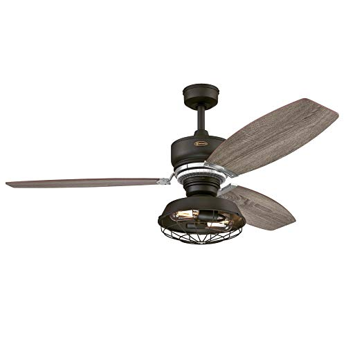 Westinghouse Lighting 7223500 Thurlow Indoor Ceiling Fan with Light and Remote, 54 Inch, Weathered Bronze