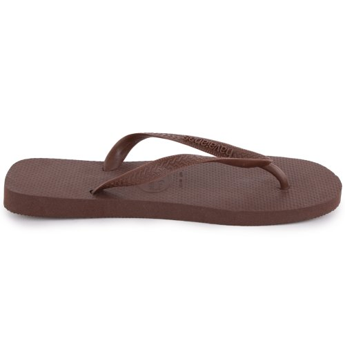 Havaianas Top Unisex Synthetic Flip Flops Dark Brown - 35/36 Brazilian catKn
