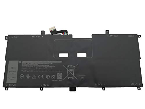 Tinkerpal NNF1C HMPFH 7.6V 46Wh Replacement Laptop Battery for Compatible Dell XPS 13 9365 XPS 13-9365-D1605TS XPS 13-9365-D1805TS Series - 12-Month Warranty ()