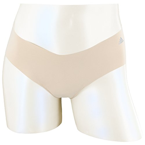 adidas Women's Seamless Hipster Underwear (1-Pack), Light Nude/Matte Silver, Small